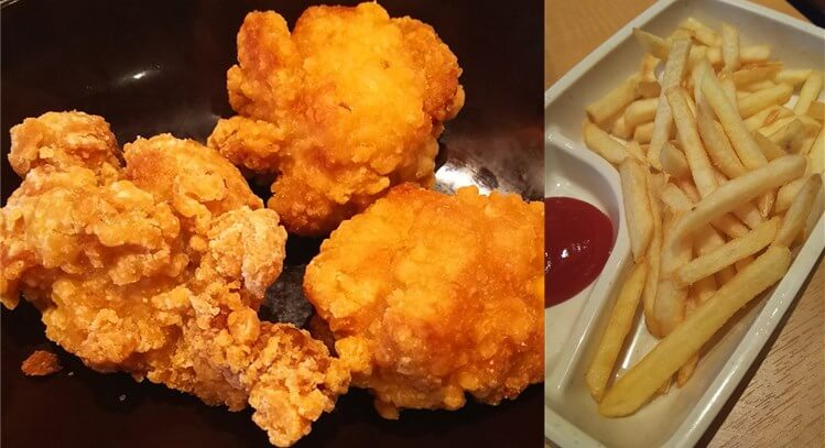 きんぐ食べ放題ランチ:唐揚げ・ポテト