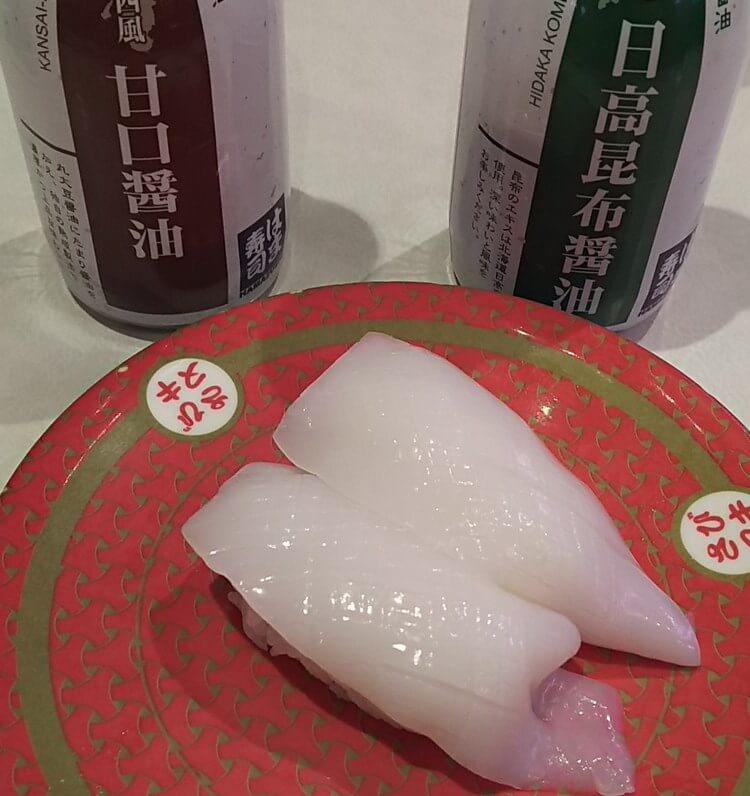 日高昆布醤油vs甘口醤油(やりいか)