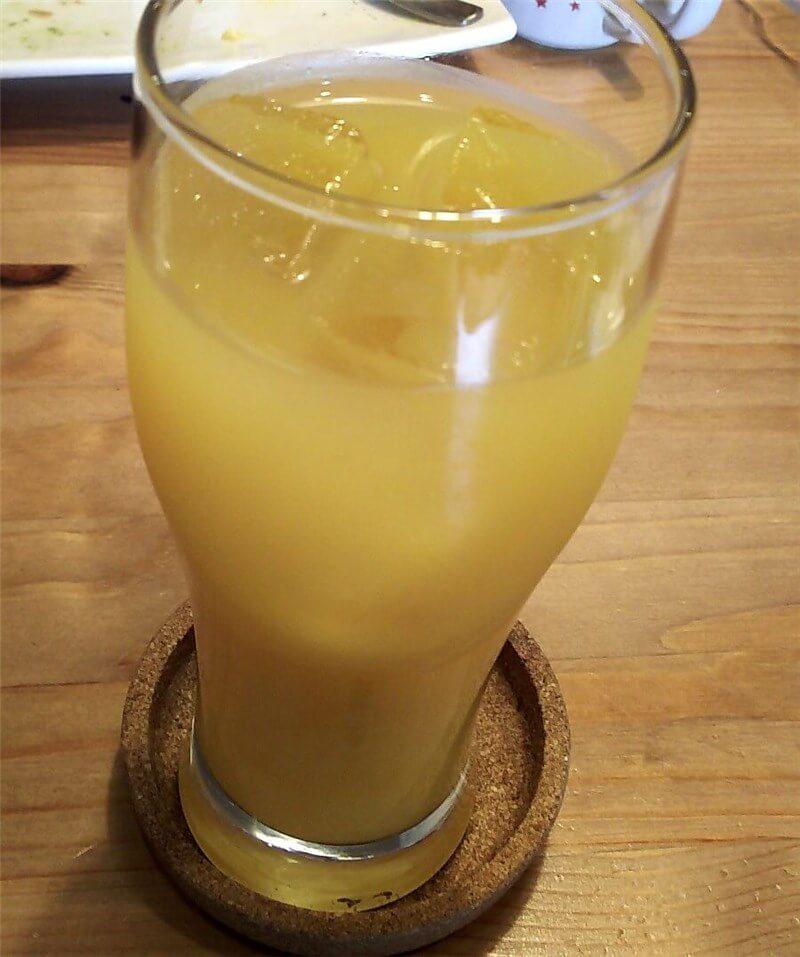 ランチドリンクで選んだオレンジジュース