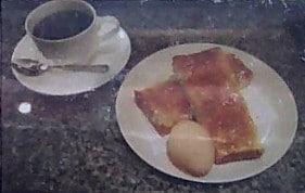 モーニングA、トースト・ゆで玉子